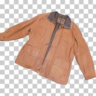 Leather Jacket Leather Jacket Coat Sleeve PNG