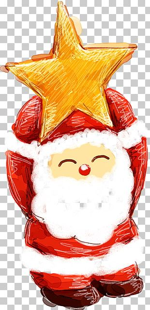 Santa Claus Christmas Card Reindeer Gift PNG