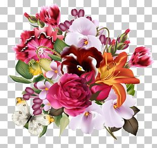 Floral Design Flower Bouquet Birthday Mother PNG