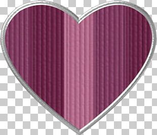 Pink M Heart PNG