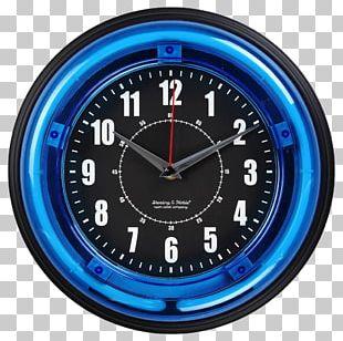Quartz Clock Wall Light Blue PNG