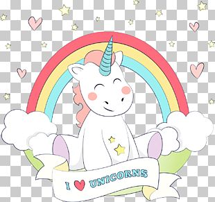 Unicorn Wedding Invitation Paper PNG