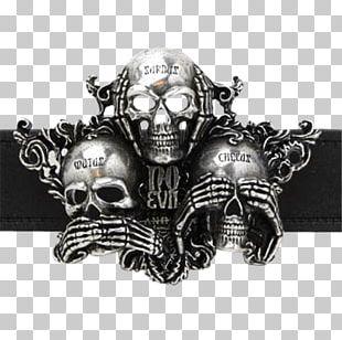 Three Wise Monkeys Human Skull Symbolism Death Evil PNG