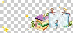 Book Cartoon Painting Illustration PNG