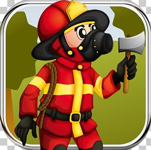 Firefighter Cartoon Poster Firefighting Illustration PNG