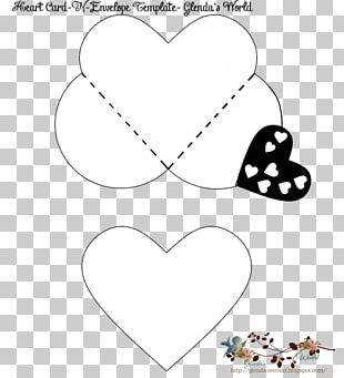 Valentine's Day Paper Heart Envelope Pattern PNG