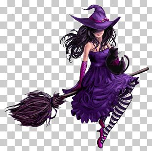 East Germany Witchcraft Purple Hill Witch PNG