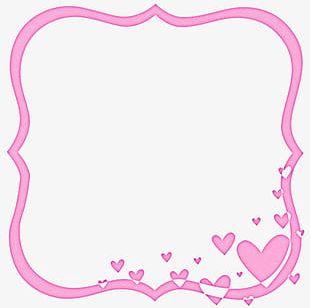Pink Heart Frame PNG