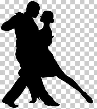 Argentine Tango Dance Silhouette PNG