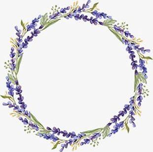 Lavender Wreath PNG