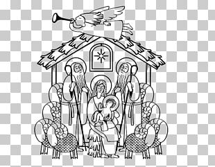 Drawing Coloring Book Child Historical Jesus Nativity Scene PNG