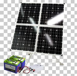 Energy Solar Power Battery Charger Electric Generator System PNG