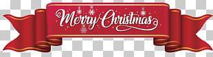 Santa Claus Christmas Ribbon Gift PNG