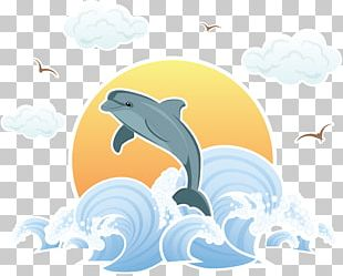 Wind Wave Dolphin Sea Illustration PNG