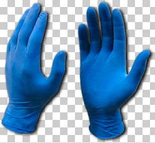 Medical Glove Rubber Glove Blue Latex PNG