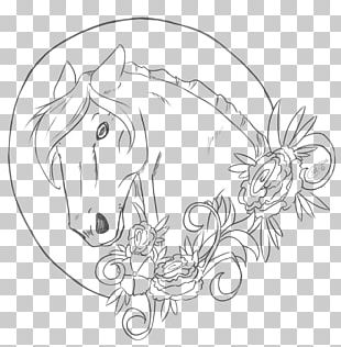 Horse Head Mask Line Art Drawing Pony PNG