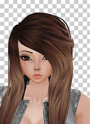 Brown Hair Hair Coloring Hime Cut Black Hair PNG