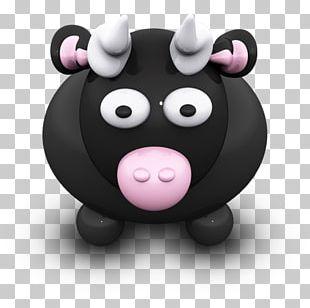 Pink Pig Snout Smile PNG
