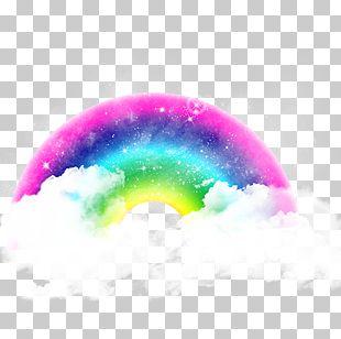 Rainbow Cloud Color PNG
