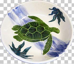 Sea Turtle Plate Porcelain Bowl PNG