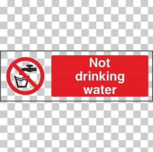 Drinking Water Sign Sticker Label PNG