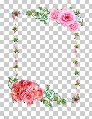 Paper Borders And Frames Flower Rose PNG