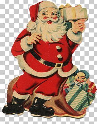 Santa Claus Christmas Decoration Christmas Ornament Candy Cane PNG