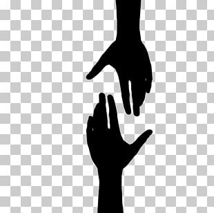 Hand Black And White Drawing PNG