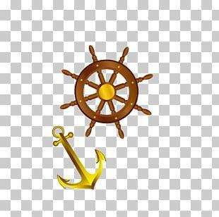 Ships Wheel Steering Wheel Boat PNG