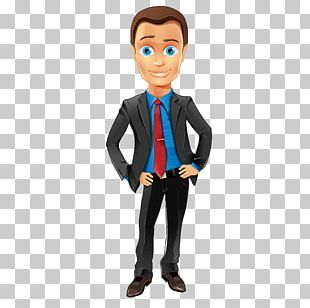 Business Man Cartoon Character Illustration PNG