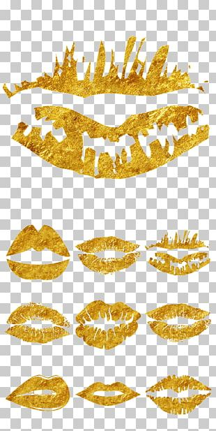 Lip Gold PNG