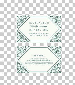 Wedding Invitation Convite Green Gratis PNG