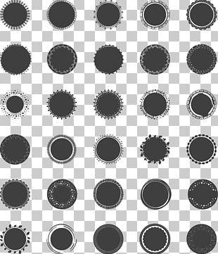 Black Circle Painting PNG