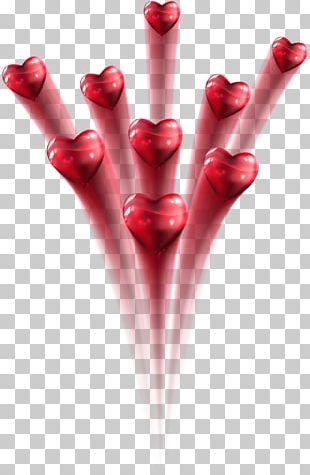 Fireworks Heart Rocket PNG
