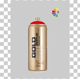 Aerosol Spray Aerosol Paint Gold PNG