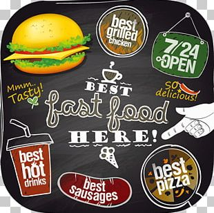 Fast Food Hamburger KFC Pizza French Fries PNG