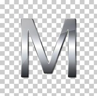 Metal Silver Letter Font PNG