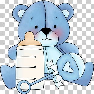 Teddy Bear Baby Blue PNG