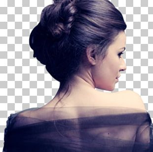 Bun Hairstyle Updo Long Hair PNG