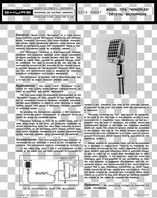 Microphone Wiring Diagram Shure 577B PNG