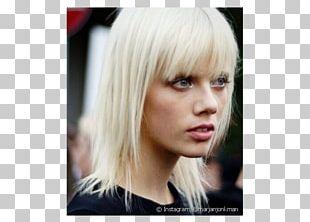 Blond Bangs Bob Cut Hair Coloring Brown Hair PNG
