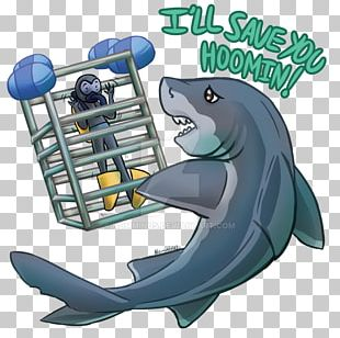 Shark Cage Diving Underwater Diving Art PNG