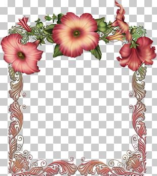 Frames Flower Red Rose PNG