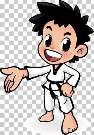 Cartoon Taekwondo Poster PNG