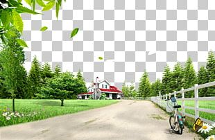 Poster Landscape Bicycle PNG