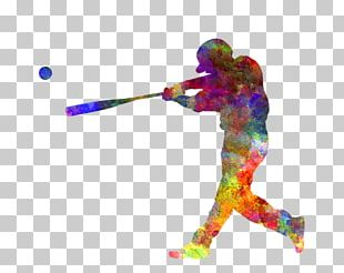 Work Of Art Baseball Player Watercolor Painting Printmaking PNG