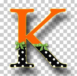 Letter Alphabet K Halloween ABC PNG