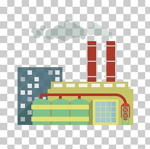 Chemical Plant Factory Illustration PNG