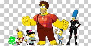 Homer Simpson Lisa Simpson Bart Simpson Marge Simpson Vanellope Von Schweetz PNG