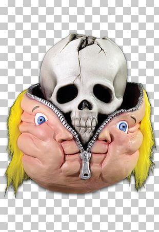 Garbage Pail Kids Bony Tony Garbage Gang Latex Mask Costume PNG
